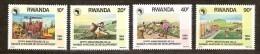 Rwanda Ruanda 1990 Yvert 1297-1300 OBCn° 1364-67 *** MNH  Cote 6,50 Euro - Rwanda