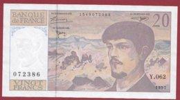 """20 Francs """"Debussy"""" 1997---VF/SUP---ALPH.Y.062 - 20 F 1980-1997 ''Debussy''"""