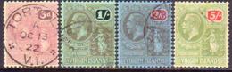 BRITISH VIRGIN ISLANDS 1922 SG 82-85 Compl.set Used Wmk Mult.Crown CA CV £140 - British Virgin Islands