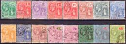 BRITISH VIRGIN ISLANDS 1922-28 SG 86-101 Compl.set Used Wmk Mult.Script CA CV £225 - British Virgin Islands
