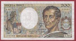 """200 Francs """"Montesquieu"""" 1985---F/TTB+--X.027 - 1962-1997 ''Francs''"""