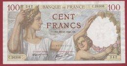 """100 Francs """"Sully"""" Du 20/11/1941.SD.---VF/SUP--ALPH.N.26308--AUCUN TROU D EPINGLE - 1871-1952 Anciens Francs Circulés Au XXème"""