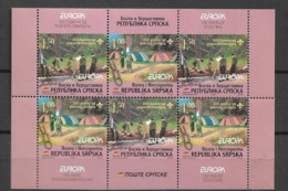 2007 MNH Bosnia Serbian Postm From Booklet  Postfris** - Europa-CEPT