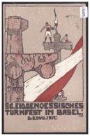BASEL - EIDG. TURNFEST 1912 - SONDERSTEMPEL RÜCKS. - TB - BS Basle-Town