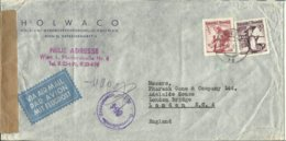 1951  Censored Letter From Vienna (Wien) To London - 1945-.... 2nd Republic