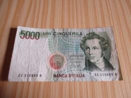 Italie.Billet 5000 Lires 1985. - [ 2] 1946-… : Repubblica