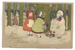 ENFANTS Et BONHOMME DE NEIGE - Illustration 2490 - Illustrators & Photographers