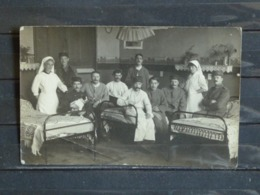 Z27 - Guerre 1914-18 - Hopital Militaire Non Identifié - Groupe De Blessés Et D'infirmieres - Carte Photo - Guerre 1914-18