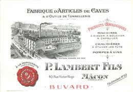 71 , MACON , Fabrique D'articles De Caves , P Lambert Fils , Buvard , * M 23 90 - Macon