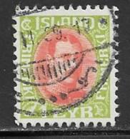 Iceland Scott # 202 Used Christian X, 1937 - 1918-1944 Autonoom Bestuur