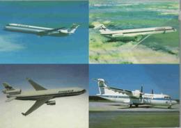 1 CARDS 4 VIEV Finnair Airlines DC-9  MD-11 MD-82/83 ATR-42 Airlines Aereo Airways Airplane Finlandia - 1946-....: Era Moderna