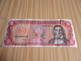 République Dominicaine.Billet 5 Pesos Oro 1988. - Dominicana
