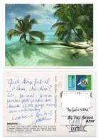 Maldives 001, Atoll, Beau Timbre Planche à Voile - Maldiven
