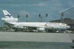 Finnair Airlines DC-10-30  OH-LHB Airlines Aereo Airways At Roissy-en-France Airplane Finlandia - 1946-....: Era Moderna