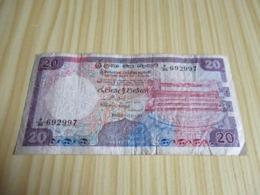 Ceylan.Billet 20 Rupees 01/01/1985. - Sri Lanka