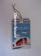 Années 50 - Belle étiquette Bagages Cabine PAQUEBOT ÎLE-DE-FRANCE New-York Le Havre - Bateaux
