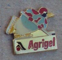 Pin's Alimentation 081, Surgelé Agrigel - Pingouin Hockey Sur Glace - Food