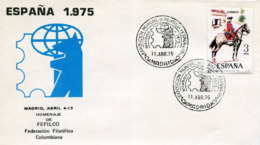 Lote SC852, España, 1975, Sobre, Cover, Madrid, Homenaje A Fefilco, Caballo, Horse, Expo Philately - Otros