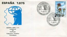 Lote SC853, España, 1975, Sobre, Cover, Madrid, Homenaje A Fefilco, Flor, Flower, Expo Philately - Otros
