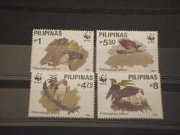 FILIPPINE - 1991 WWF UCCELLI 4 VALORI  NUOVI(++) - Filippine