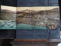 Campagne D'Orient - Golfe De Salonique - CPA Panoramique Dépliante En 4 Volets Envoyée En 1917 - Grecia