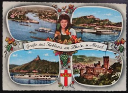 KOBLENZ An Rhein U. Mosel - Grusse Aus - Multiview  - Vg G3 - Koblenz