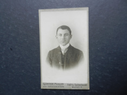 7ogg) ANTICA FOTOGRAFIA PHOTO FOTOGRAFO  GUNTHER MULLER FRANKFURT A/MAIN SACHSENHAUSEN WALLSTRASSE - Antiche (ante 1900)
