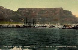 SUDAFRICA , TARJETA POSTAL NO CIRCULADA  , CAPE TOWN FROM THE BREAKWATER , BARCO , SHIP , PORT , PUERTO - Schiffe