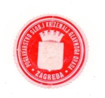 CROATIA, ZAGREB, POGLAVARSTVO GLAVNOGA GRADA, POSTER STAMP - Kroatien