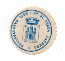 CROATIA, ZAGREB, POGLAVARSTVO GLAVNOGA GRADA, POSTER STAMP - Croatia