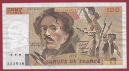 """100 Francs """"Delacroix"""" 1978---F/TTB+---ALPH.B.5 - 1962-1997 ''Francs''"""