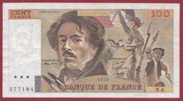 "100 Francs ""Delacroix"" 1978---F/TTB+---ALPH.B.6 - 100 F 1978-1995 ''Delacroix''"