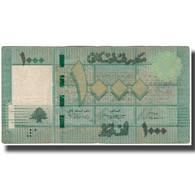 Billet, Lebanon, 1000 Livres, KM:90, TB - Liban