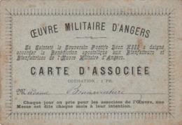 Carte D'associée à L'Oeuvre Militaire D'ANGERS Avec Bénédiction Du Pape Léon XIII. (curiosité). - 1914-18