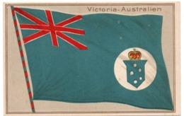 AUSTRALIA / AUSTRALIEN VICTORIA FLAG / EMBOSSED - Australia