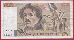 "100 Francs ""Delacroix"" 1989---F/TTB+---ALPH.C.148 - 100 F 1978-1995 ''Delacroix''"