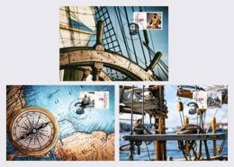 Liechtenstein 2019 Set 3 MC Maximum Cards  500 Years First World Circumnavigation Ferdinand Magellan - Explorers