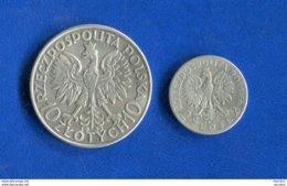 Pologne  2  Pieces  Arg - Pologne