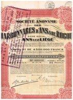 Titre Ancien - Sté Anonyme Des Charbonnages D'Ans & De Rocour - Titre De 1931 - Obligation à 20 Ans - Mines