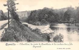 AYWAILLE - L'Amblève, La Route De Comblain Et Les Rochers Des 4 Fils Aymond - Aywaille