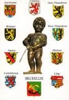 CPM - Ecussons Des 9 Provinces De La Belgique - Autres