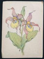 BLUMENLEGENDE - KUNSTKARTENSERIE 1-12 - FRAUENSCHON   - Vg Deutschland 1947 - Illustratori & Fotografie