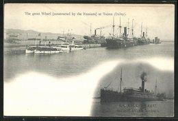 AK Tairen, The Great Wharf, S.S. Nikko Maru - China