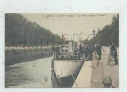 """Lille (59) : GP Du Yacht Anglais """"Vacuna"""" à Quai Canal Du Port Vauban En 1910 (animé) PF. - Lille"""