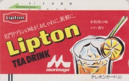 Télécarte Ancienne Japon / 110-12014 - BOISSON -  THE LIPTON - TEA DRINK Japan Front Bar Phonecard / A - Lebensmittel