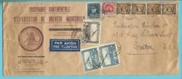256+320+341+LP1+2 Op Brief Per Luchtpost (avion) Stempel BRUXELLES Naar London - Covers & Documents