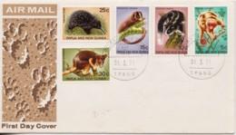 Papua New Guinea 1971 Wild Animals FDC - Papua New Guinea