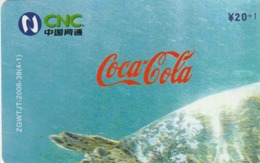 CHINA. PUZZLE. COCA COLA. FAUNA. TORTUGA - TURTLE. ZGWTJT-2006-39(4-1). (105). - Rompecabezas