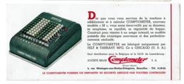 Buvard Ancien COMPTOMETER - Machine à Calculer - Felt & Tarrant Mfg Co Chicago - 2 Scans - Buvards, Protège-cahiers Illustrés