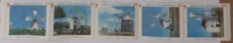 Portugal - 5 Vinhetas Serviço De Luta Antituberculosa IANT 1975 Moinhos - Windmills Cinderellas Vignettes - Emissions Locales